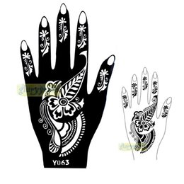 Wholesale Picture Seasons - Wholesale-1pc New Seasons Classic Totem India Design Henna Hands Art Tattoo Template Mixture Picture Tattoo Stencils for Women Y063