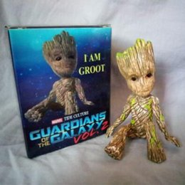 Wholesale Plastic Trees Model - Groot Tree Man Figure Model Guardians of the Galaxy Kids Toy Groot Action Figure Collectible Model CCA7513 10pcs