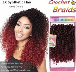 Wholesale Purple Wand - Freetress braids Pre looped Wand Curl Crochet hair extensions Ombre bug maroon twist braiding hair Synthetic Crochet Braids hair extensions