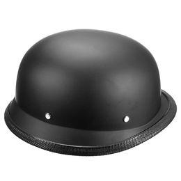 Wholesale Helmet Matte - Wholesale- 1Piece ABS Plastic Motorcycle Helmet Motorcross Capacete Half Helm Retro Matte Black For Men 59-60cm