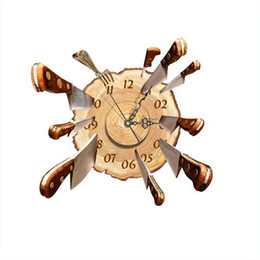Wholesale Fly Clock - Wholesale- NEW High Quality DIY Wall Decal Clock Fly Cutter 3D Wall Stickers Clock 3D Art Wall Clock