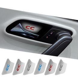 Wholesale Vw Passat Lock - Stainless Steel For VW Volkswagen Passat CC 2011-2016 Inner Actuator Interior Car Door Lock Handle Cover Protective Sticker