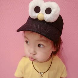 Wholesale Sesame Street Caps - Big Eye Sesame Street Caps for Children Unisex Kid's Baseball Caps with Adjustable Strap Cartoon Snapback Hat Sun Hat