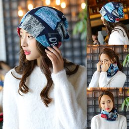 Wholesale Pregnant Novelty - Hats for Pregnant Women Beanies Fall Winter Fitted Cap Ladies Warm Scarf Fashion Love Letter Hip Hop