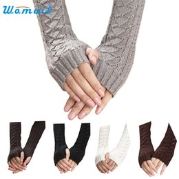 Wholesale Wholesale Bamboo Keyboards - Wholesale- Womail The most Winter Autumn Warm Hollow Out Gloves Keyboard Leak Finger Knit Gloves