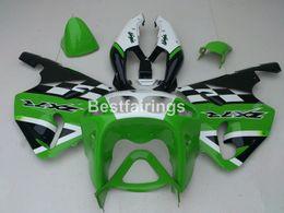 2019 kit corpo kawasaki 1996 Kit carene aftermarket per Kawasaki Ninja ZX7R 1996-2003 carenature verde bianco nero ZX7R 96-03 TY50 kit corpo kawasaki 1996 economici
