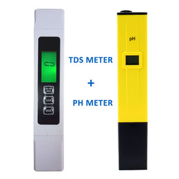 Wholesale Ph Temp Meter - Wholesale- Backlight Digital TDS Meter Tester +PH meter Water Quality Purity Filter With battery,Wide Range 9999 ppm,EC Temp ppm  Free ship