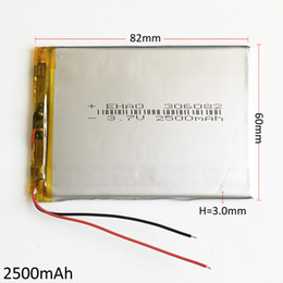 Wholesale high power camera - EHAO 306082 3.7V 2500mAh Li Polymer Lithium Rechargeable Battery high capacity cells For DVD PAD GPS power bank Camera E-books Recorder