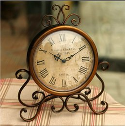 Wholesale Iron Table Frames - Wholesale-Europe type restoring ancient ways frame wrought iron table clock creative home wall clock bell bedroom Classic adornment