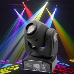 Wholesale Effects Spot Lights - LED 8colors 10W 30W spots Light DMX Stage Spot Moving 8 11 Channels Mini LED Moving Head follow lighting for DJ Effect lights Dance Disco