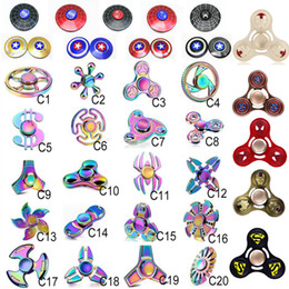Wholesale Wholesale Kids Plastic Toys - 100 types Fidget spinner toys Rainbow hand spinners Avengers Tri-Fidget Metal EDC Gyro beer bottle Dragon finger top bluetooth spinning ZH