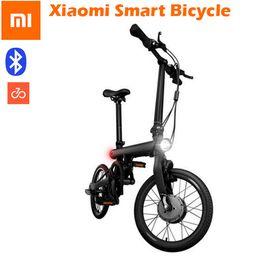 "Wholesale E Bike Front - 2017 Hot Genuine xiaomi smart electric bicycles bike portable mijia Qicycle e bike foldable pedelec ebike 18"" TFT screen monitor vehicle"
