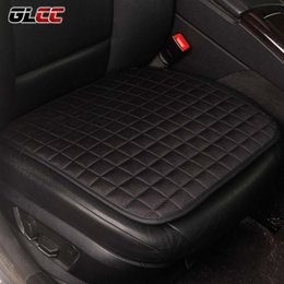 Wholesale universal linens - GLCC Car Front Seat Covers All Seasons Linen Non&Slide Pad Universal Auto Covers Mat 4 Colours 1PC Voiture Interior Accessories