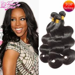 Wholesale Peruvian Wavy Hairs - Brazilian Body Wave 3 Bundles Queen Love Wet And Wavy Brazilian Virgin Hair Body Wave brazilian hair weave bundles Human Hair Peruvian Body