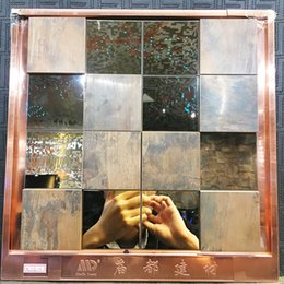 Wholesale Metal Backsplash Tile - copper and stainless steel mosaic wall tiles,Metal mosaic tile sticker,backsplash homemosaic decor wall tile,MDH8110