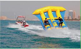 sea games Canada - 2016 PVC Tarpaulin Inflatable Flying Fish Tube Towable   Inflatable Water Games Flyfish Banana Boat For Sea