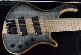 Редкие Mayones 5-струнная электрическая бас-гитара с вырезом из клена через корпус с раздуванием ладов Активная электронная схема 9В батарейный отсек Черный аппаратное обеспечение от Поставщики mayones гитары