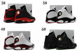 Wholesale Basketbal Shoes - 2017 new 13 Retro OG He Got Game Shoes Pre-Owned Authentic KIDS basketbal shoes Retro 13 XIII Black  Varsity Red BRED boy and girls sneakers