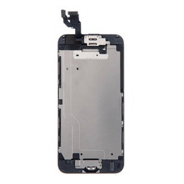 Wholesale Iphone Display Home Button - For iPhone6 LCD Display &Touch Screen Digitizer full Assembly with camera+home button flex cable+EarpieceSpeaker Free Shipping ePacket