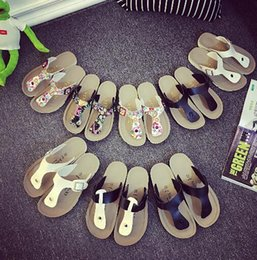 Wholesale Wholesale High Heel Slippers - Unisex Beach Flip-flops Summer Sandles Fashion Antiskid Slippers Couple Beach Shoes PU Leather Slippers Casual Cool Slippers