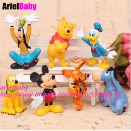 Wholesale Resin Minnie Mouse - New 7PCS Mickey Toy Mouse Minnie Donald Duck Goofy Dog Tigger Pluto Clubhouse Action Figure Anime Cartoon Gift Brinquedoes