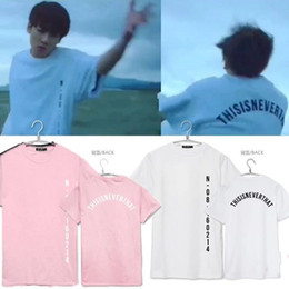Wholesale Couples Same T Shirt - Wholesale-2016 New Arrival BTS T-shirt Bangtan Boys Unisex Tee Kpop BTS SAVE ME JUNGKOOK Same Style short sleeves Couple T shirt tee