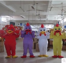 Wholesale Rooster Chicken Costume - 2017new Four color big rooster mascot costume White Cock Rooster Chicken Mascot Costume Animal mascot costume free shipping