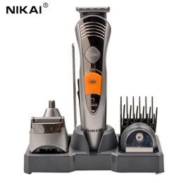 Wholesale Hair Styling Tools For Men - Styling Tools Trimmers 7 IN 1 Rechargeable Hair Trimmer Professional Hair Clipper for Men Electric Shaver Razor Nose Beard Trimmer Hair