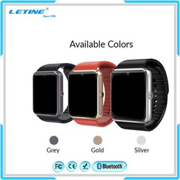 Wholesale Women Watches Korean - GT08 Waterproof Smart Watch Bluetooth 3.0 for Android IOS Phone Smartwatch for Men Women Smart Watches Free Shipping
