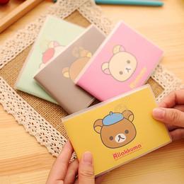 2019 caderno panda Atacado- Coréia Criativa Papelaria Animal Imagem PVC Livro de Capa Prêmios Estudante Pequeno Fresco Suprimentos escolares Notepad Mini Notebook