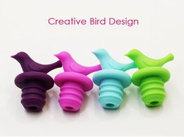 Wholesale Protection Bar - Creative silicone bird design wine stopper Safety environmental protection wine bottle stopper bar tools Multicolor options