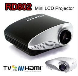 Wholesale Movie Projectors For Home - RD802 Mini Portable LED Projector Beamer Cinema VGA TV USB HDMI AV LCD Proyector For Video Games TV Home Theater Movie VS RD805
