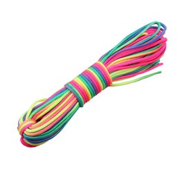 Wholesale Rainbow Parachute - Wholesale-Rainbow Paracord 550 Paracord nylon Parachute Cord Lanyard Ropew outdoor Climbing paracord Camping tool free shipping