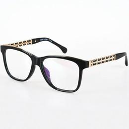 Wholesale Eyeglasses Chains - Sale 2017 New Metal Chain Arms Oculos De Grau CH 3353 Femininos Fashion Eyeglasses Frame Brand Retro Glasses Frame Women Optical Frame