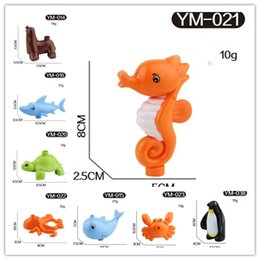 Wholesale Large Lion - Marine Ocean Animal Series Large Particle Building Blocks Whale shark crab seahorse sea lion octopus Kids Toys Compatible with Legoe Duplo