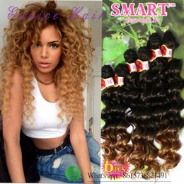 Wholesale Deep Wave Braid Hair - Free shipping freetress hair deep wave ripple hair braids Christmas Jerry curly,deep ombre brown,synthetic braiding crochet hair extensions