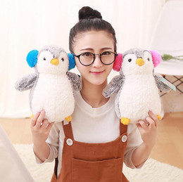 Wholesale Cute Penguin Plush Toys - Super Cute Penguin Toy 25CM Stuffed Soft Penguin Plush Toys Lovely Dolls for Girls Children Kids OOA3076