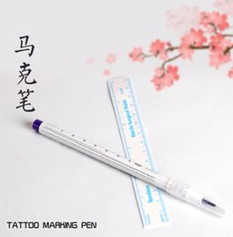 Wholesale Tool Skin Marker Pen Tattoo - Wholesale-1pcs Tattoo Skin Marker Piercing Marking Pen Scribe Tool Supply Surgical