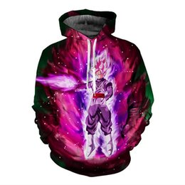 Wholesale Black Dragon Balls - Wholesale- PLstar Cosmos Men Women Pocket Hooded Sweatshirts Cool Black Goku Prints Hoodie Galaxy Dragon Ball Z Hoodies 2017 3d Pullovers