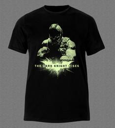 Wholesale Dark Batman Film - BATMAN BANE THE DARK KNIGHT RISES FILM MOVIE T-shirt Western Style Top Tee For Sale Natural Cotton Tee Shirts