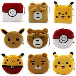 Wholesale Headphone Bearing - 100PCS hot selling cartoon coin purses ladies plush bear claw female mini bag Headphone Holder Bags T14