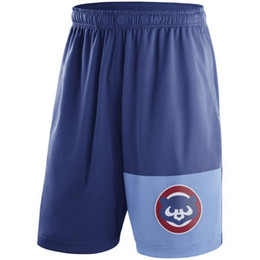 Wholesale Cubs Logos - Men's Brewers Cubs Athletics Cooperstown Collection Dry Fly Shorts teams Logo mens shorts Beach pants Size S-3XL