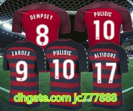 Wholesale Embroidery Football Jerseys - 2017 Golden Cup League US Thailand top Quality Soccer jerseys 17 18 BRADLEY DEMPSEY ALTIDORE PULISIC YEDLIN WOOD Embroidery Football shirt