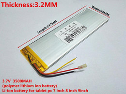 Wholesale Tablet Replacement Batteries - Hot selling New 3 Wires 3248147 3.7V Battery For Tablet inner 3500mah Battery Exchange Batteries DIY Parts Polymer li-ion Replacement