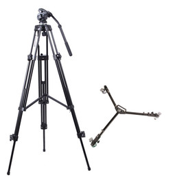 Wholesale Camera Tripod Dolly - E717 Video Tripod And Dolly Kit For Mini Jib Arm Camera
