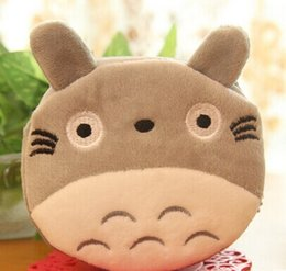 Wholesale Totoro Hand Bag - Wholesale- Super Kawaii HOT TOTORO 10CM Plush Cotton - Keychain Pocket Coin BAG ; Key Wallet Pouch ; Lady Girl's Hand BAG Pouch Wallet BAG