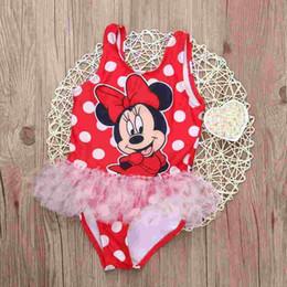 Wholesale Toddler Girls Tankini Swimsuits - New Toddler Girls Swimwear Cartoon 2 Choices Kids Bikini Sets Summer Children Swimsuit Baby Girls Tankini Swimwear
