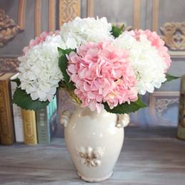 Wholesale French Artificial Flowers - Wholesale-French Rose1 Bouquet Artificial Silk Peony Flowers Plants Wedding Decoration Arrangement Room Hydrangea DIY Flores Artificiales