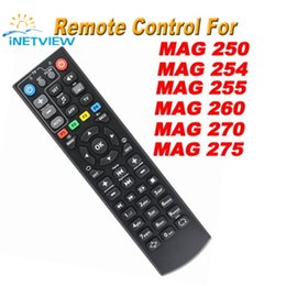 Wholesale iptv remote control - Wholesale- Black Color Replacement mag 250 Remote Control For mag250 254 255 256 257 270 275 linux system iptv media player