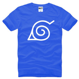 2020 t-shirt con logo cartoon New Designer Japan Anime Naruto T-Shirt da uomo in cotone manica corta Uzumaki Naruto Logo T Shirt da uomo Fashion Cartoon uomo Top Tees t-shirt con logo cartoon economici